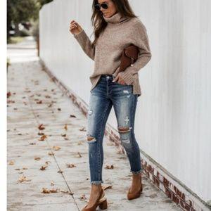 SIENNA Distressed Medium Wash Jeans